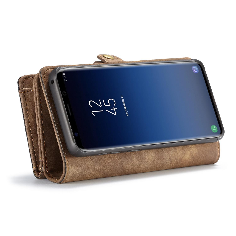 Multi-slot Lommeboksetui Samsung Galaxy S9 brun