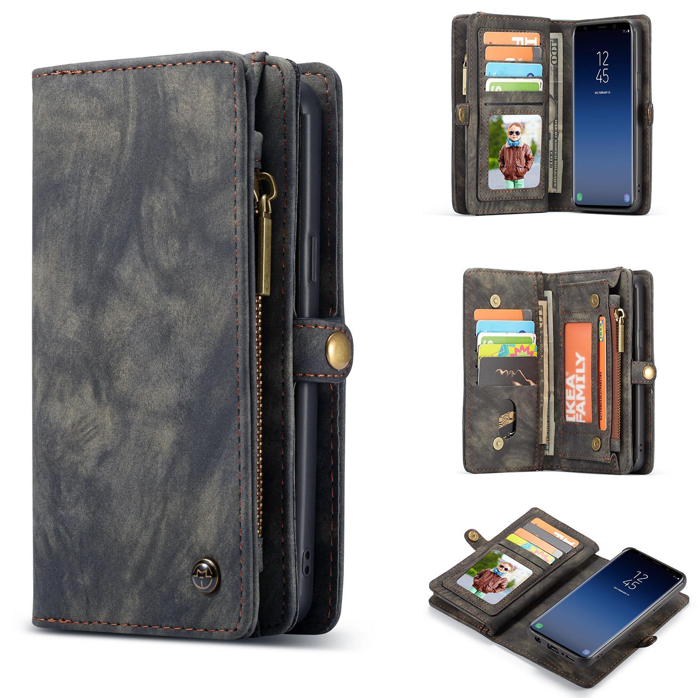 Multi-slot Lommeboksetui Samsung Galaxy S9 grå