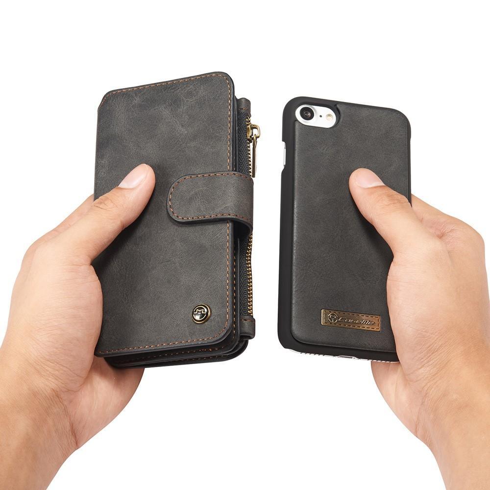 Multi-slot Flipdeksel iPhone 7/8/SE 2020 grå