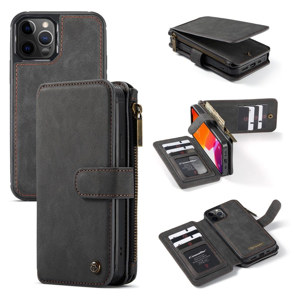Multi-slot Flipdeksel iPhone 12/12 Pro grå