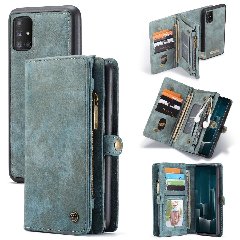 Multi-slot Lommeboksetui Galaxy A51 blå
