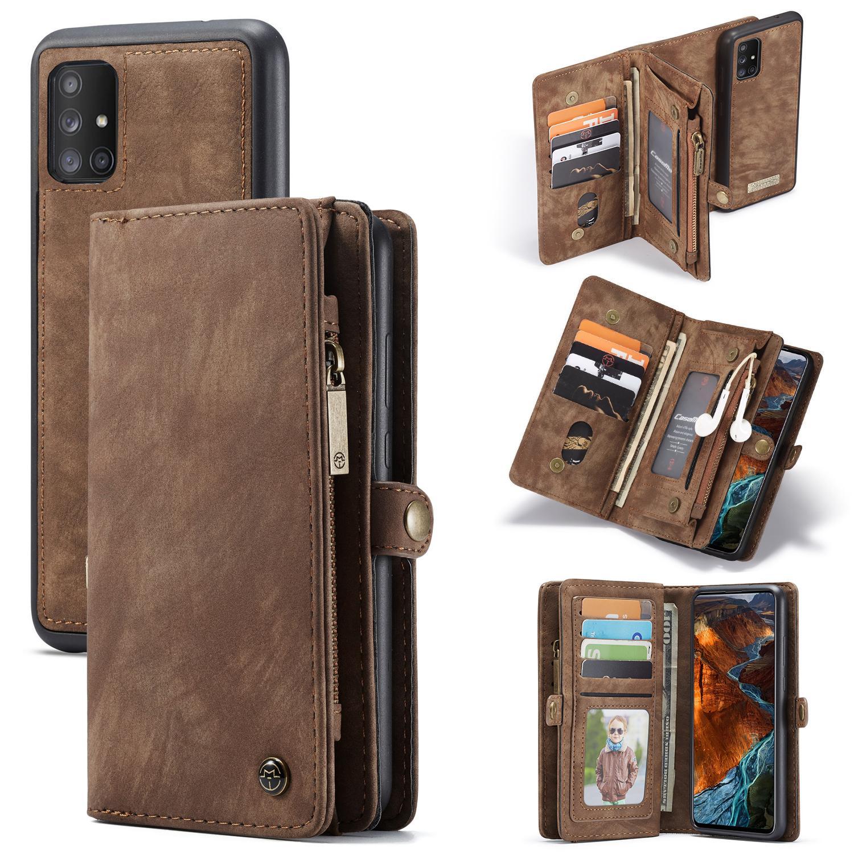 Multi-slot Lommeboksetui Galaxy A51 brun
