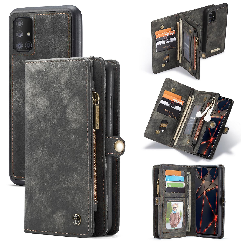 Multi-slot Lommeboksetui Galaxy A51 grå