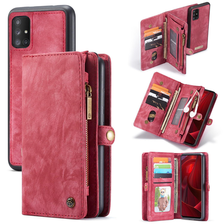 Multi-slot Lommeboksetui Galaxy A51 rød