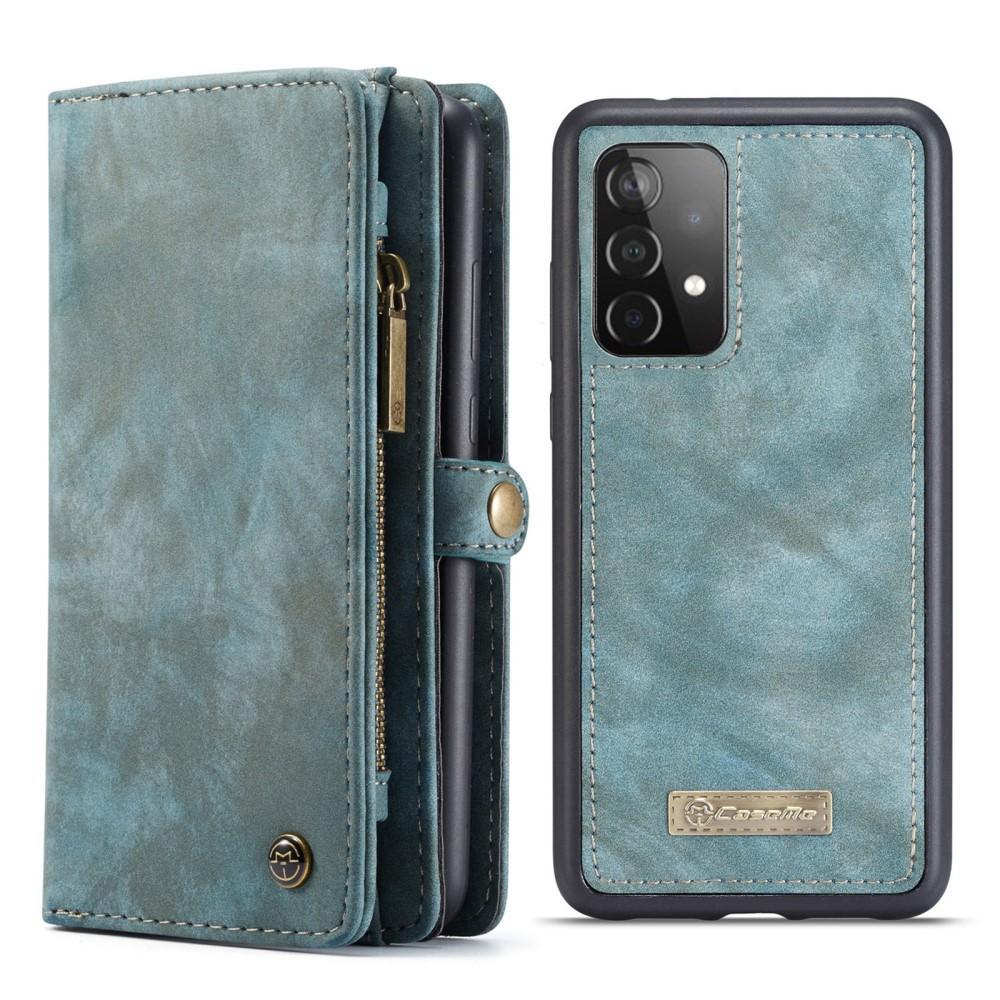 Multi-slot Lommeboksetui Galaxy A52 blå