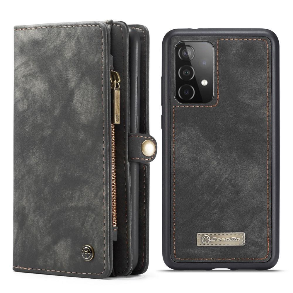 Multi-slot Lommeboksetui Galaxy A52 grå