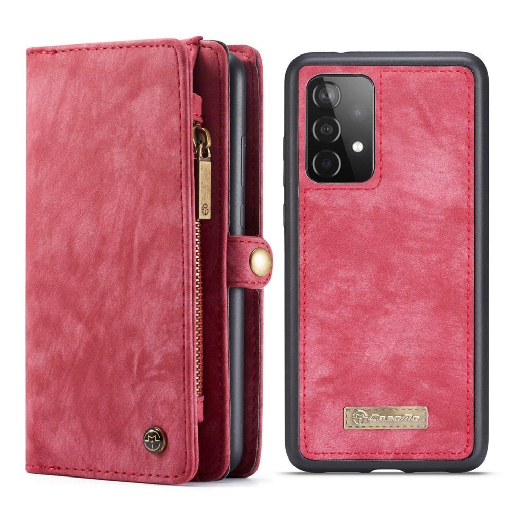Multi-slot Lommeboksetui Galaxy A52 rød