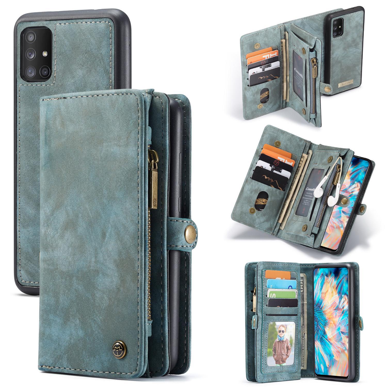 Multi-slot Lommeboksetui Galaxy A71 blå