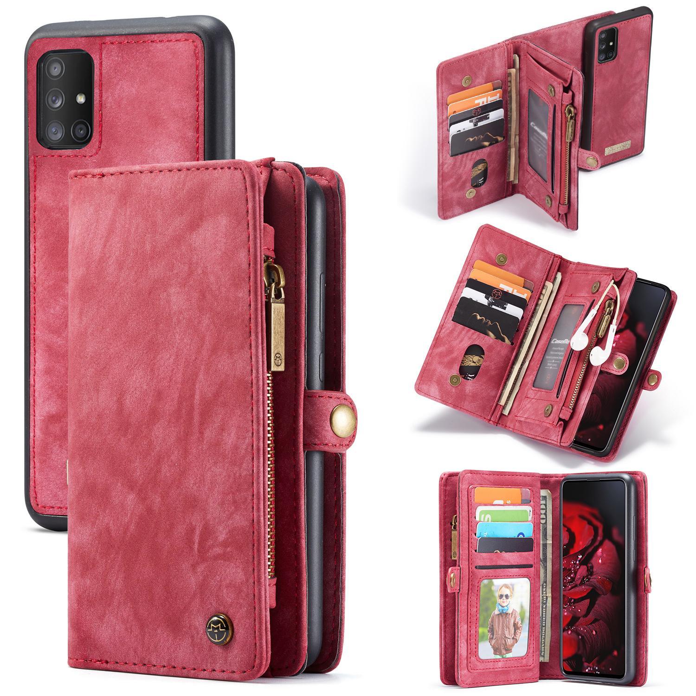 Multi-slot Lommeboksetui Galaxy A71 rød