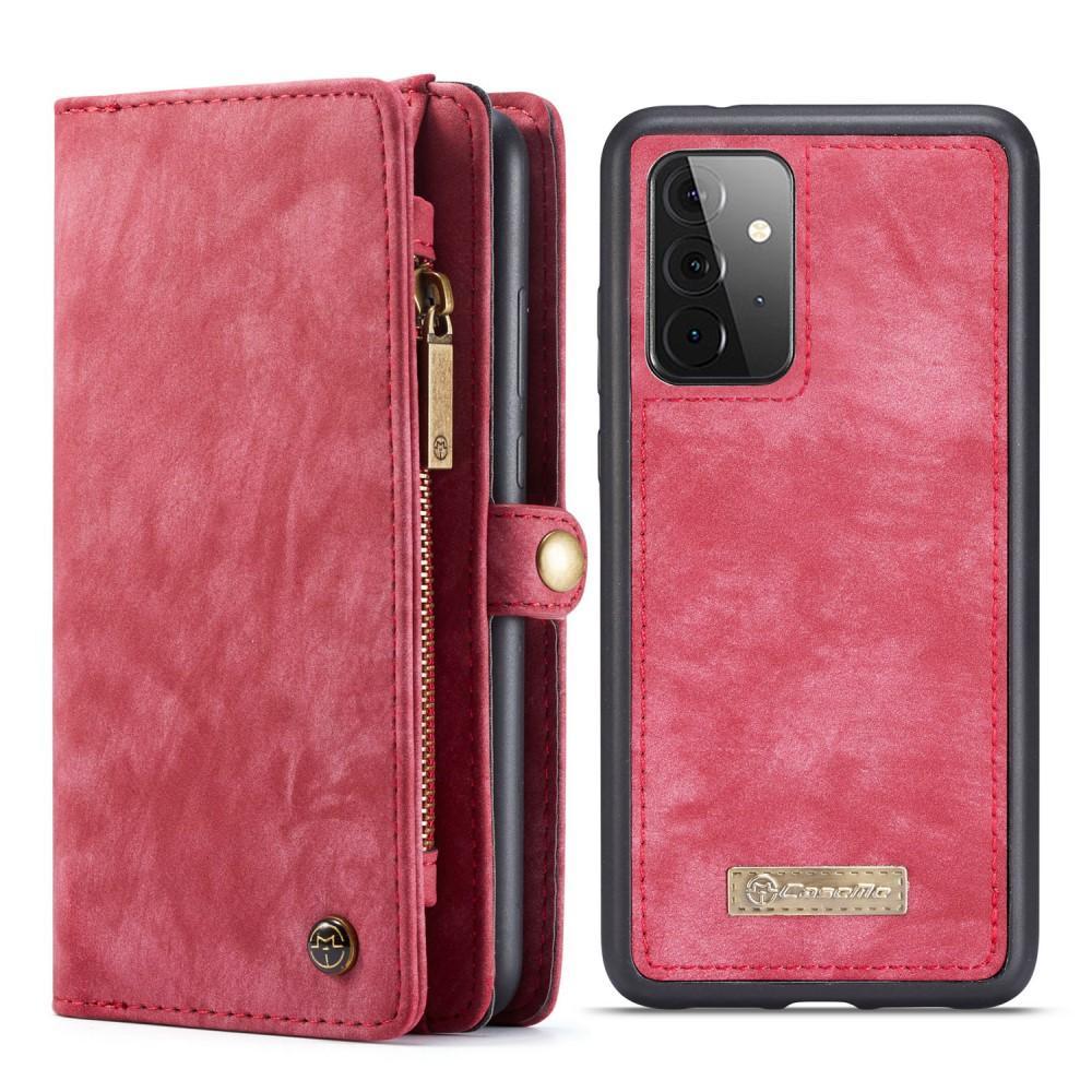 Multi-slot Lommeboksetui Galaxy A72 5G rød