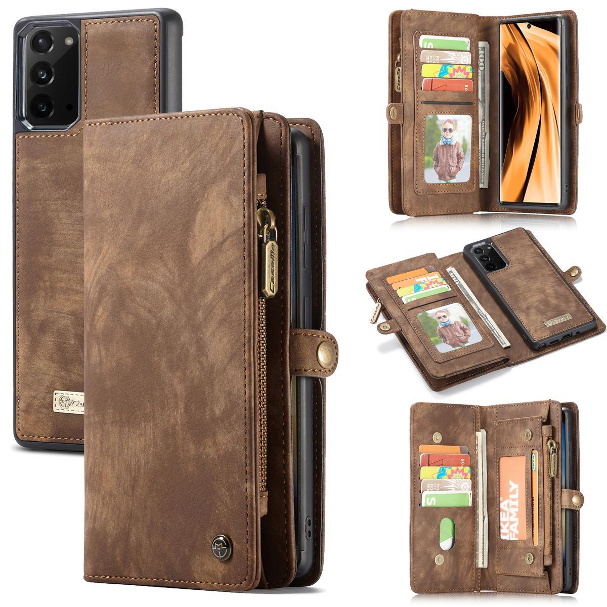Multi-slot Lommeboksetui Galaxy Note 20 brun