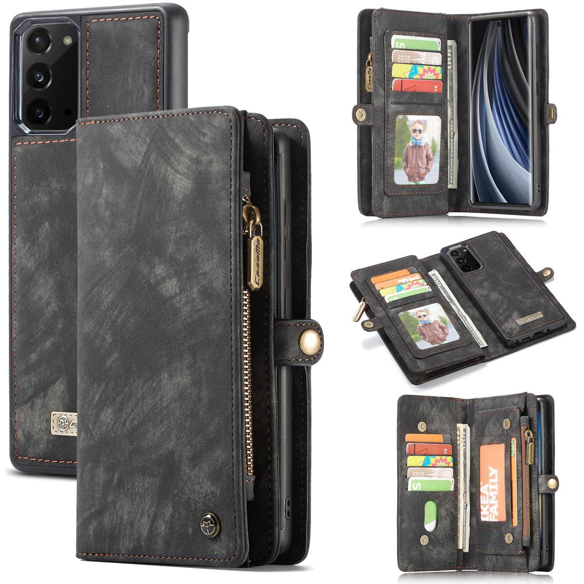 Multi-slot Lommeboksetui Galaxy Note 20 grå