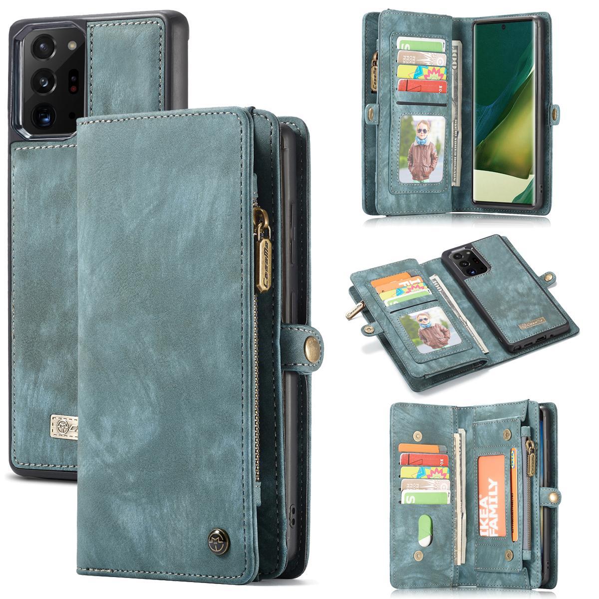 Multi-slot Lommeboksetui Galaxy Note 20 Ultra blå