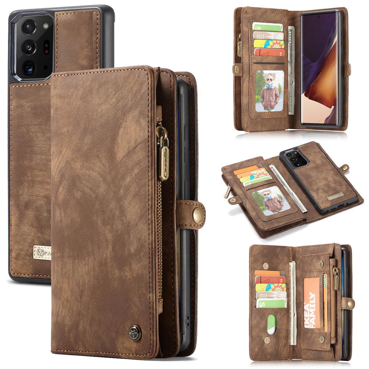 Multi-slot Lommeboksetui Galaxy Note 20 Ultra brun