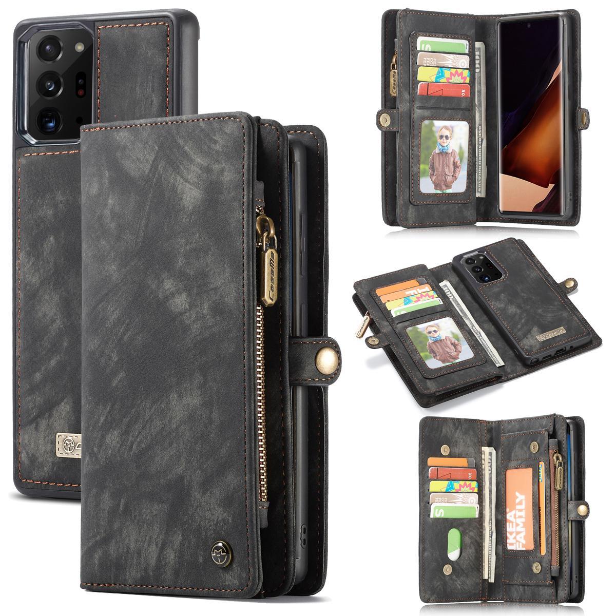 Multi-slot Lommeboksetui Galaxy Note 20 Ultra grå