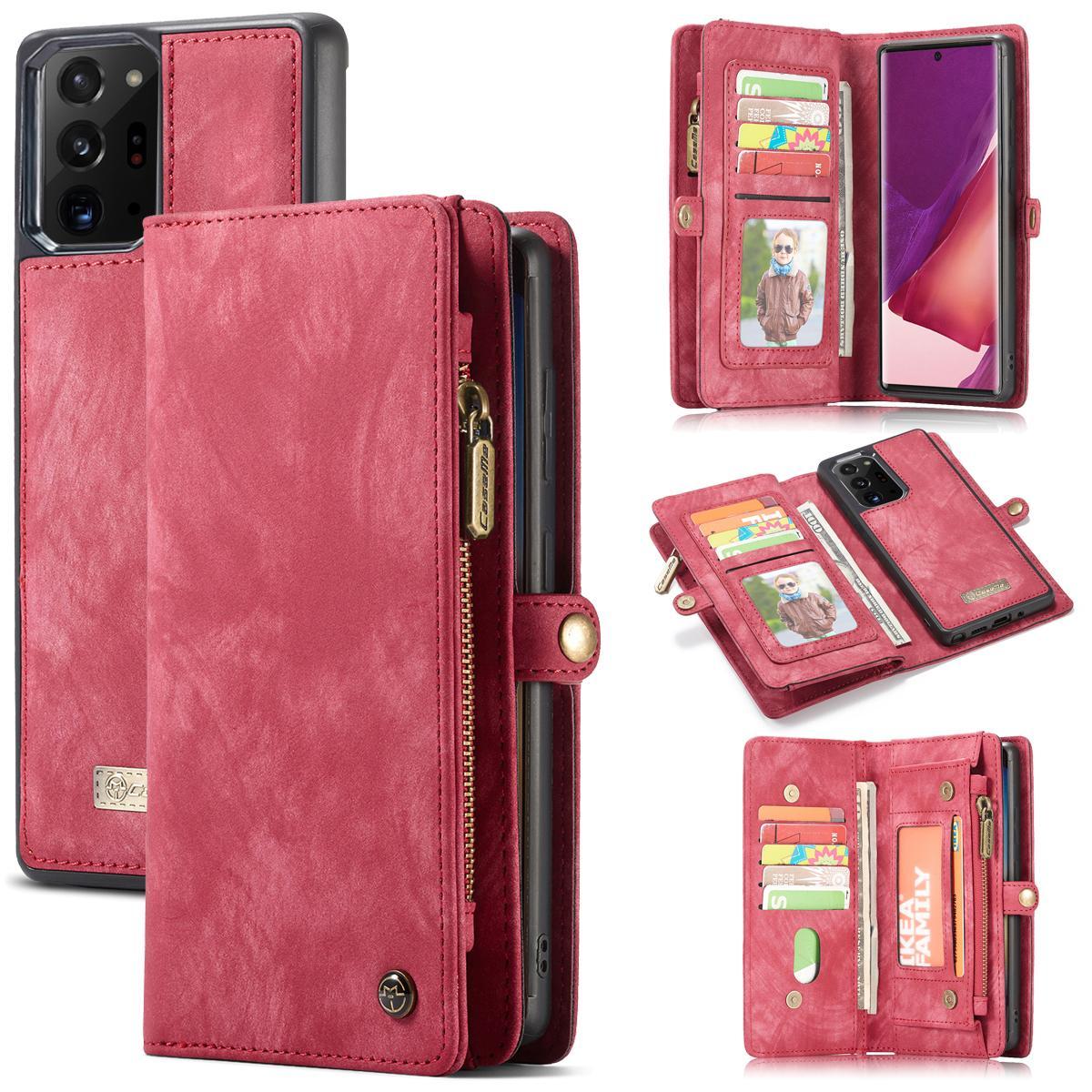 Multi-slot Lommeboksetui Galaxy Note 20 Ultra rød