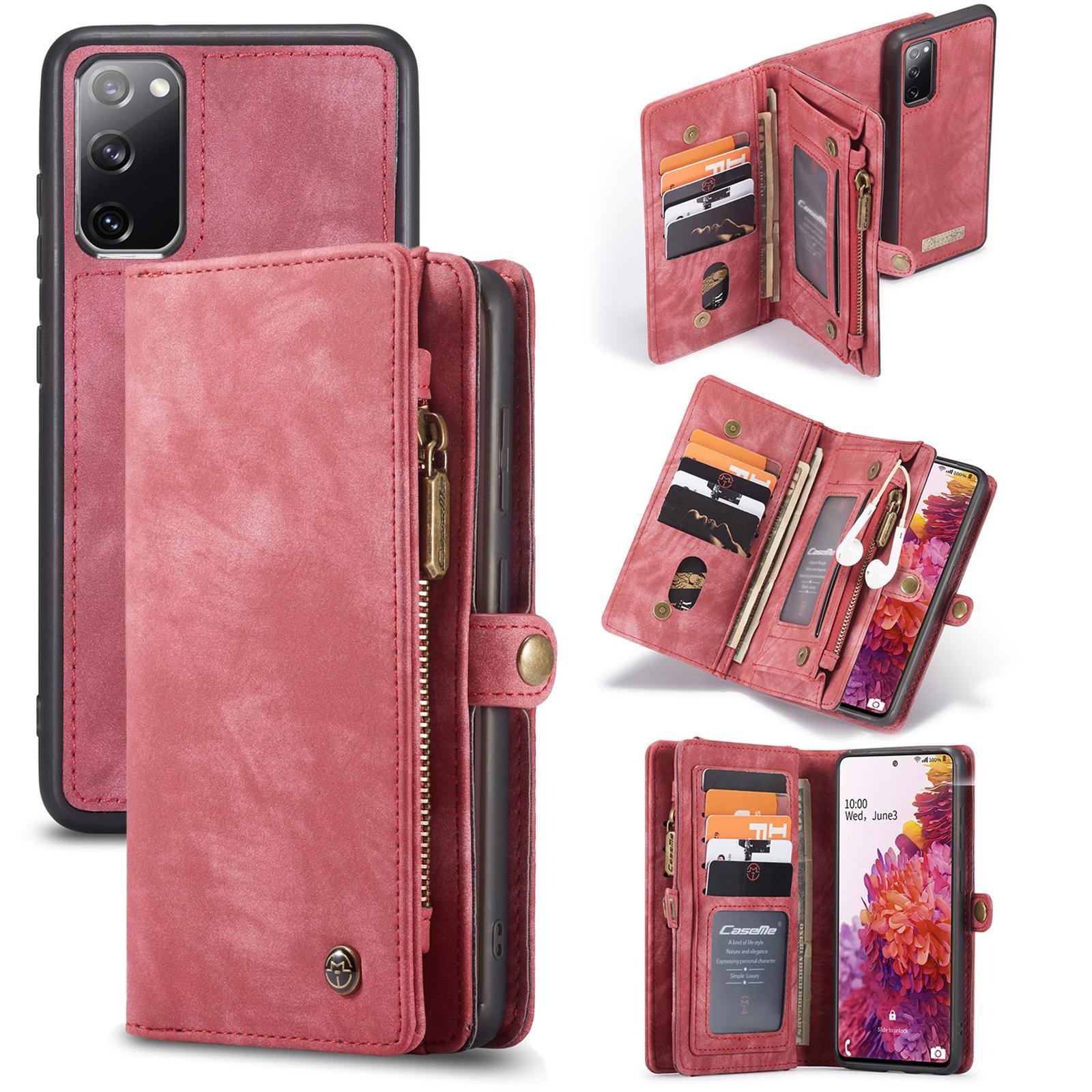 Multi-slot Lommeboksetui Galaxy S20 FE rød