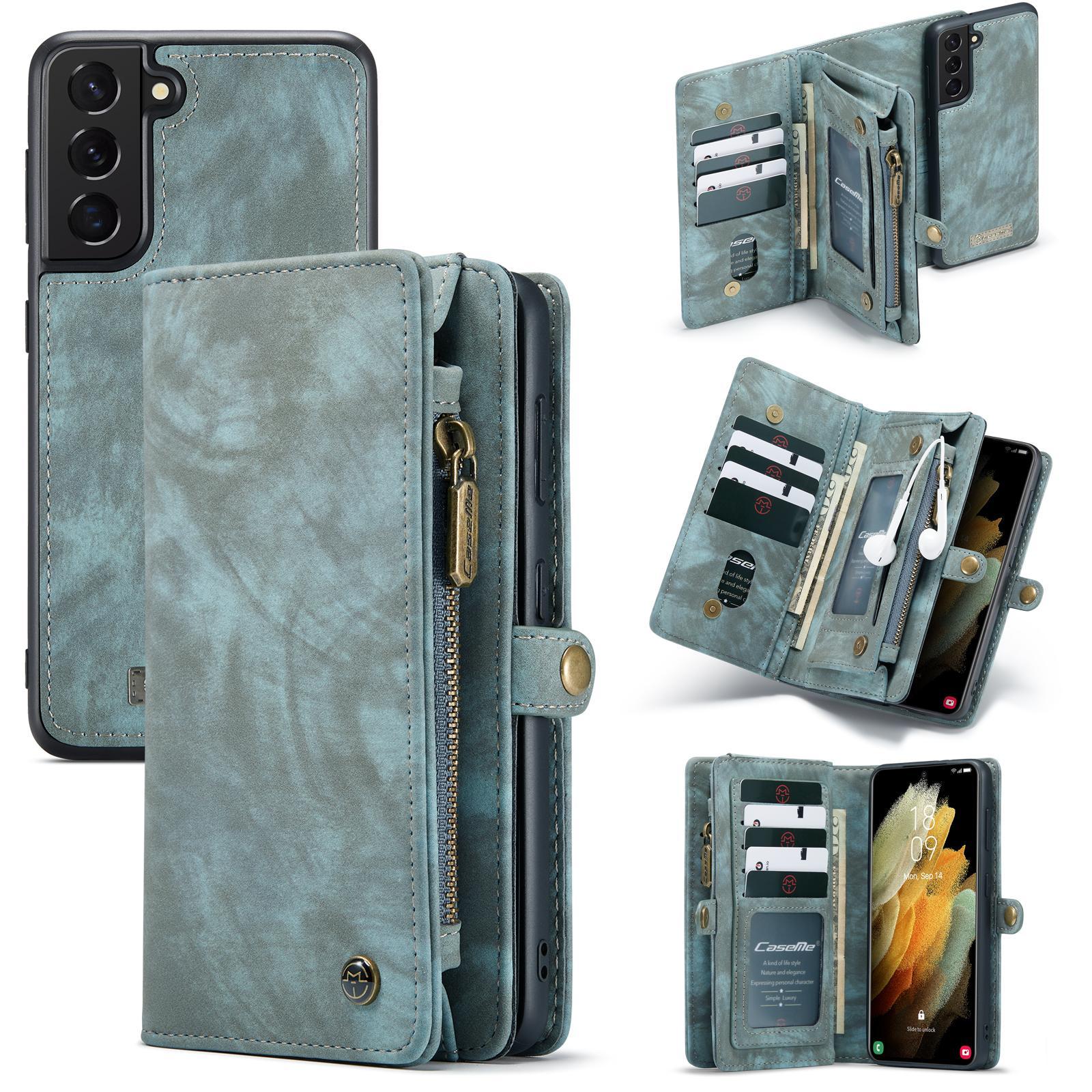 Multi-slot Lommeboksetui Galaxy S21 blå