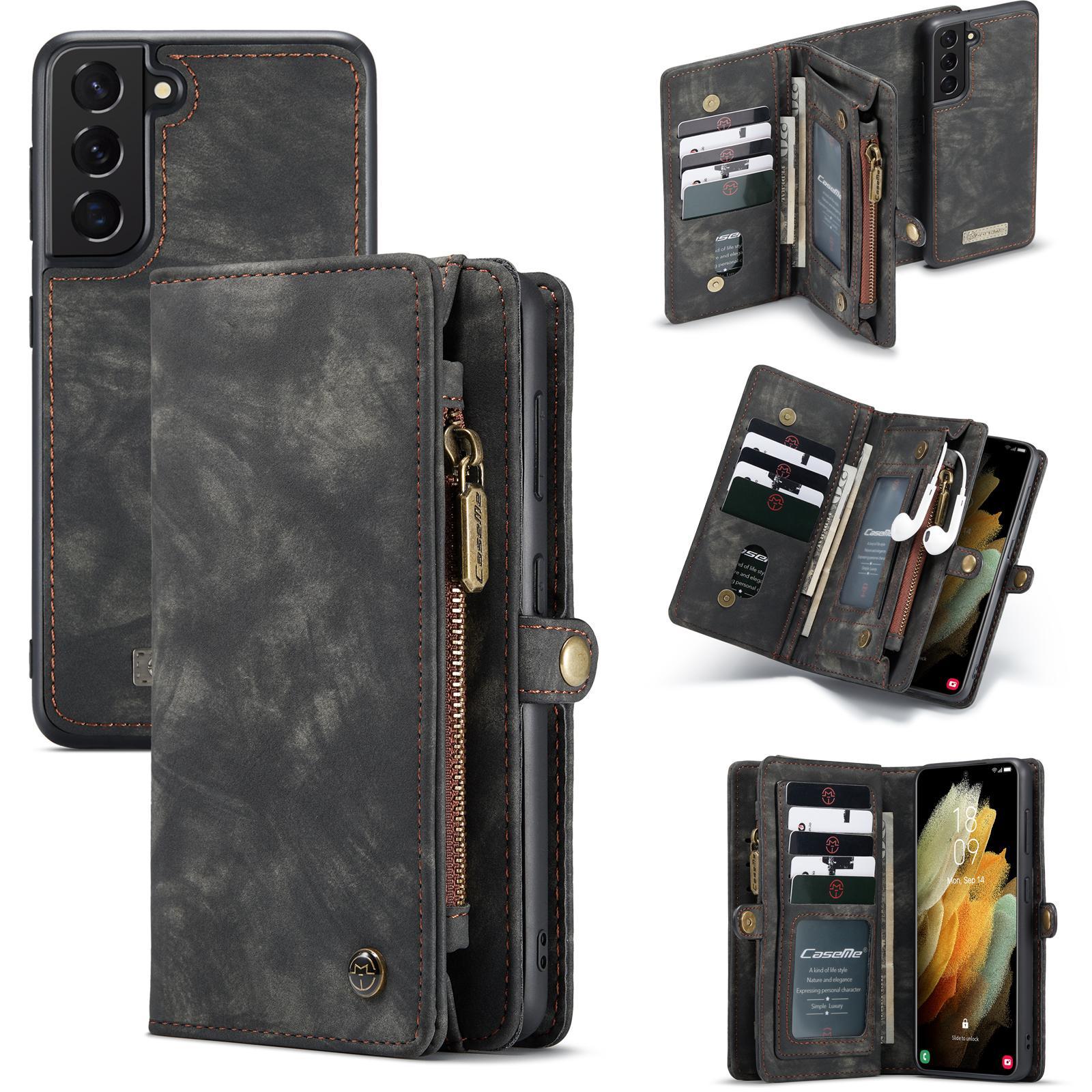 Multi-slot Lommeboksetui Galaxy S21 Plus grå