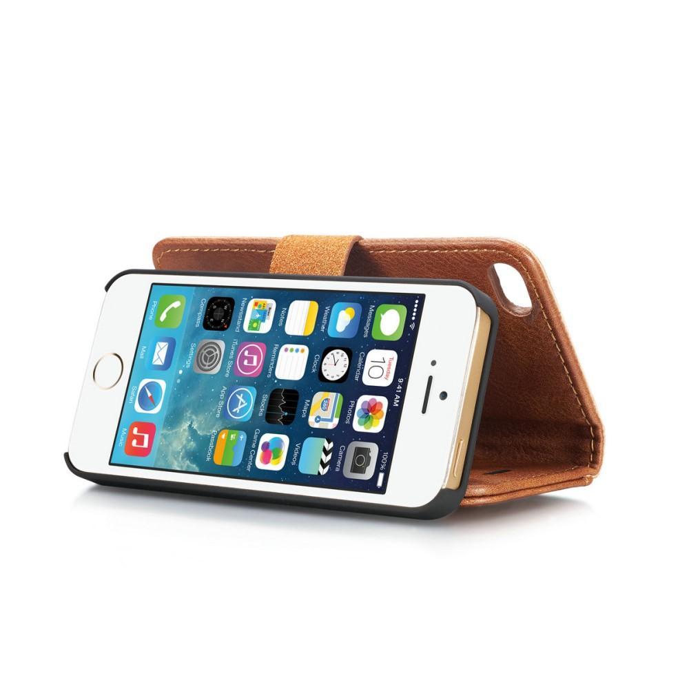 Magnet Wallet iPhone 5/5S/SE Cognac