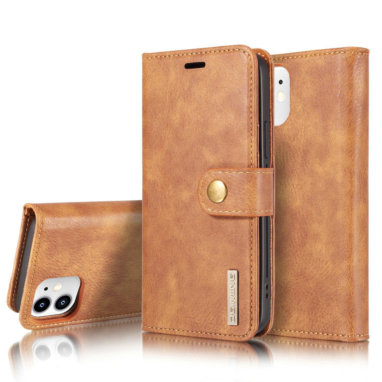 Magnet Wallet iPhone 12 Mini Cognac