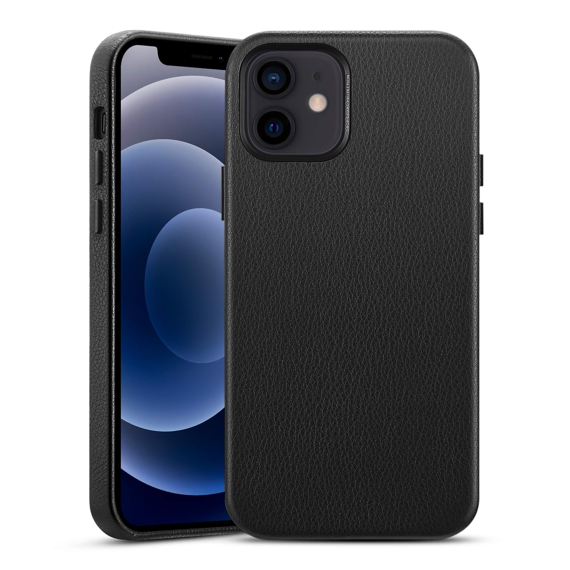Premium Leather Case iPhone 12 Mini Black