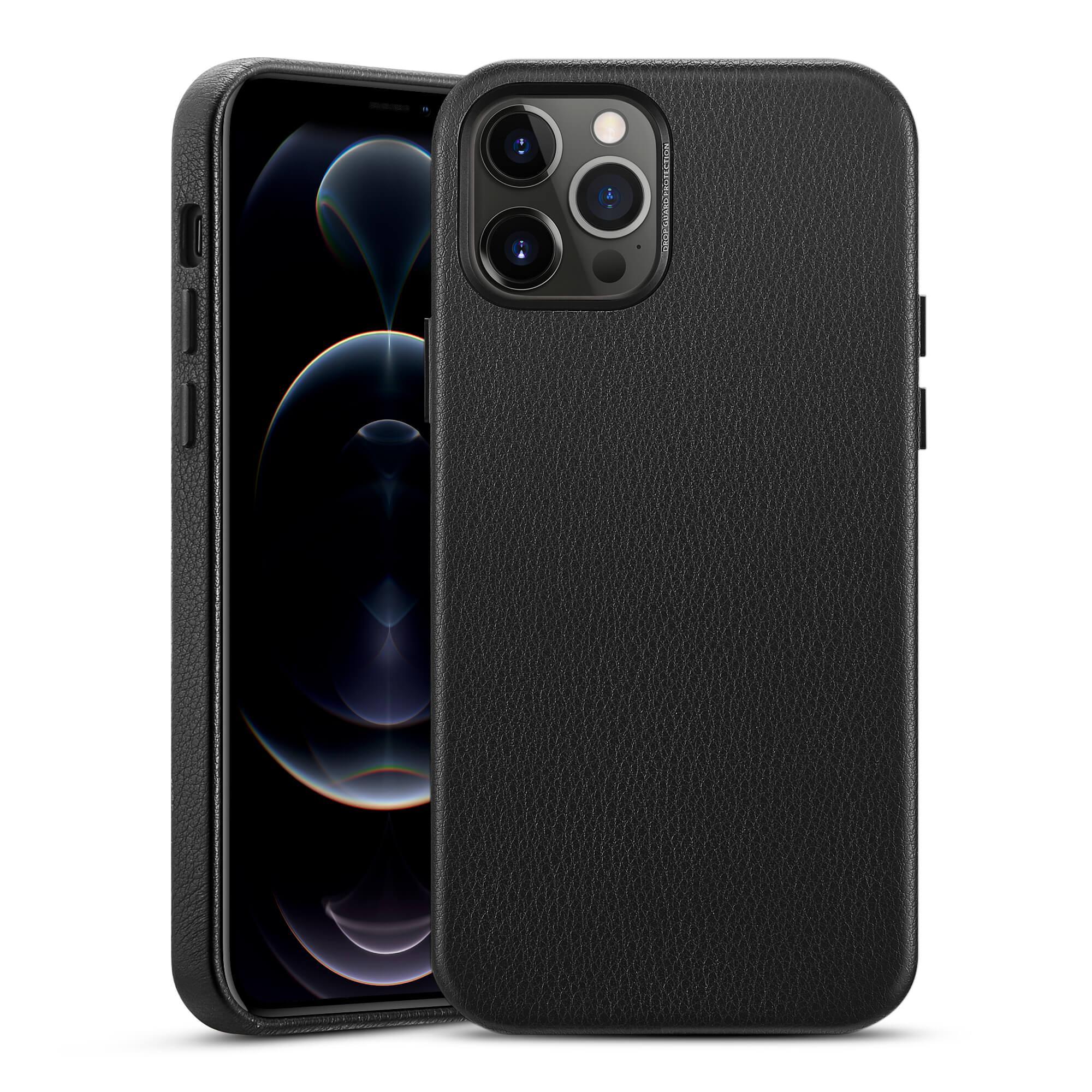 Premium Leather Case iPhone 12 Pro Max Black