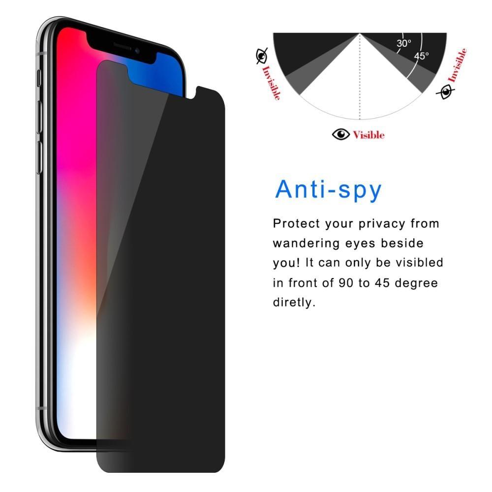 Privacy Herdet Glass Skjermbeskytter iPhone X/XS