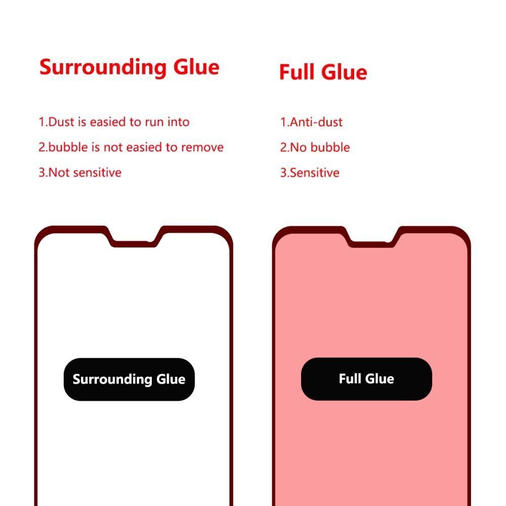 Full Glue Herdet Glass Asus ZenFone Max Pro M2 Black