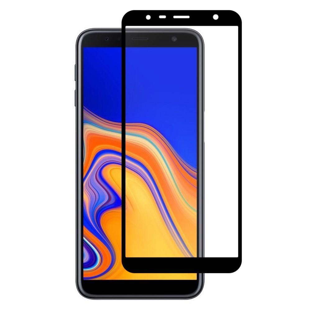 Full Glue Herdet Glass Galaxy J4 Plus 2018 Black