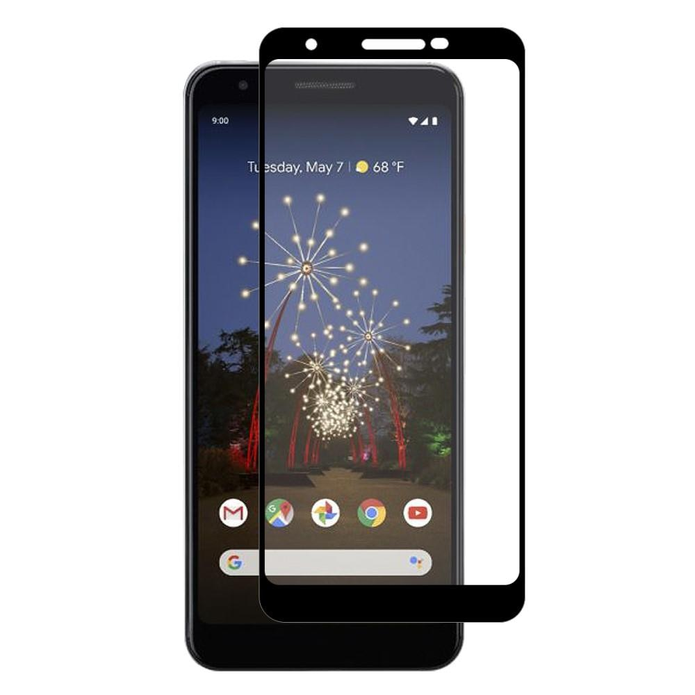Full Glue Herdet Glass Google Pixel 3a Black