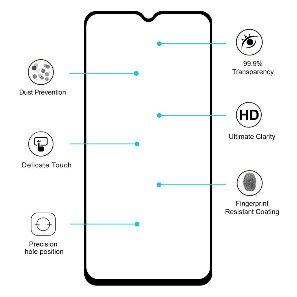 Full Glue Herdet Glass OnePlus 7/6T Black