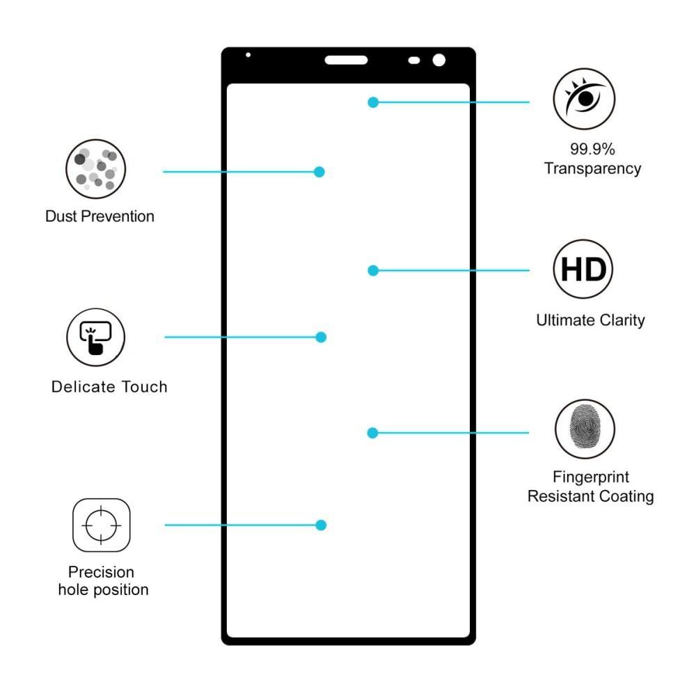 Full Glue Herdet Glass Sony Xperia 10 Black