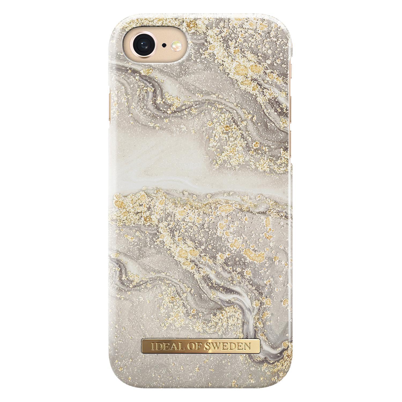 Fashion Case iPhone 6/6S/7/8/SE 2020 Sparkle Greige Marble