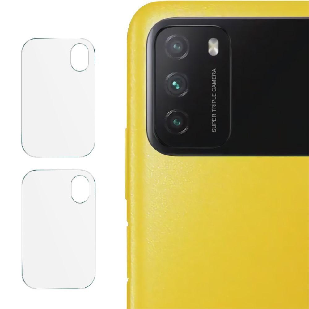 2-pack Herdet Glass Linsebeskyttelse  Xiaomi Poco M3