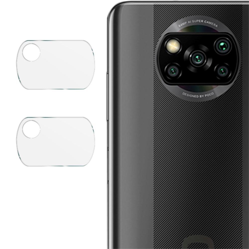 2-pack Herdet Glass Linsebeskyttelse Xiaomi Poco X3 NFC