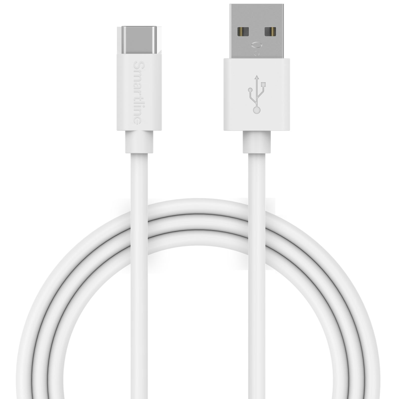USB-kabel USB-C 3m hvit