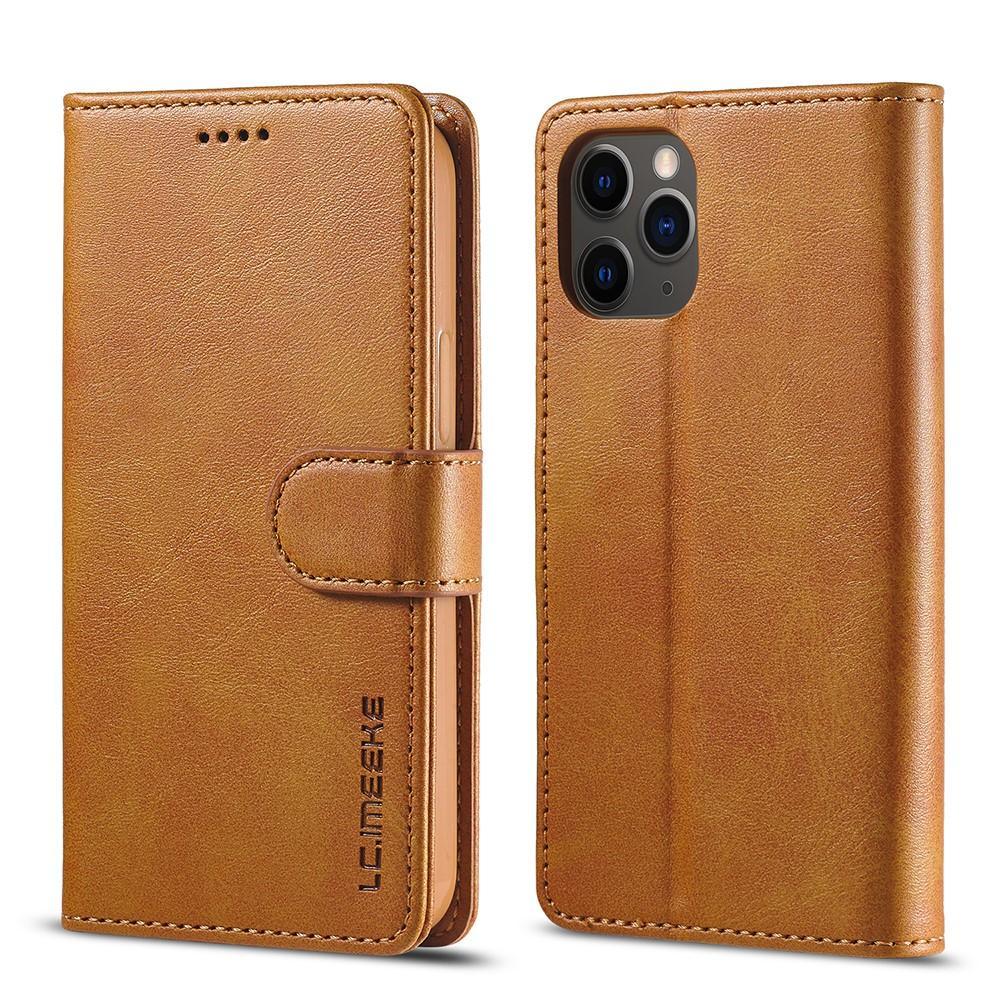 Lommeboketui iPhone 12/12 Pro cognac
