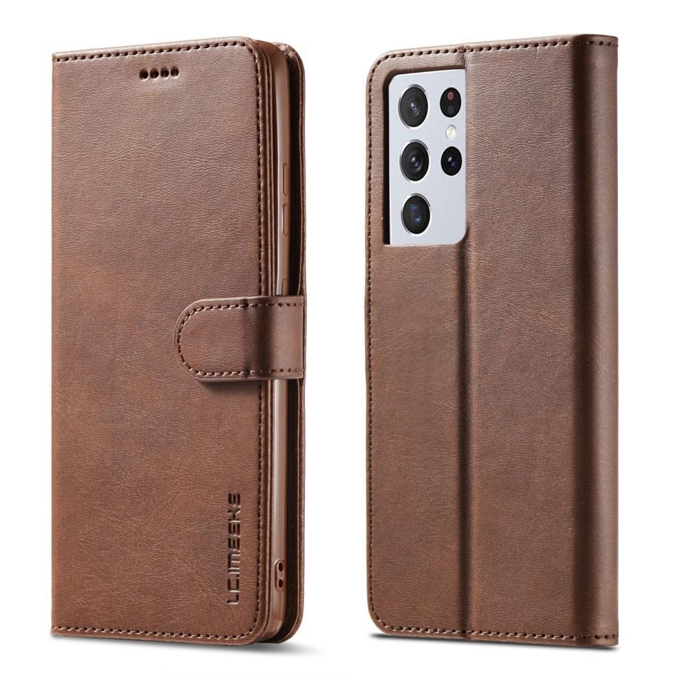 Lommeboketui Samsung Galaxy S21 Ultra brun