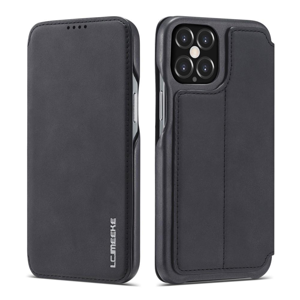 Slim Lommeboketui iPhone 12/12 Pro Svart
