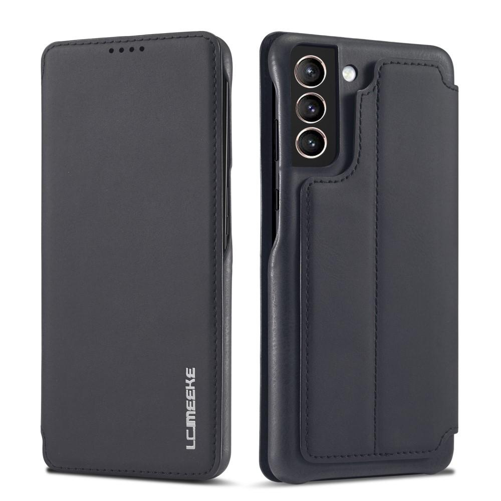 Slim Lommeboketui Samsung Galaxy S21 Svart