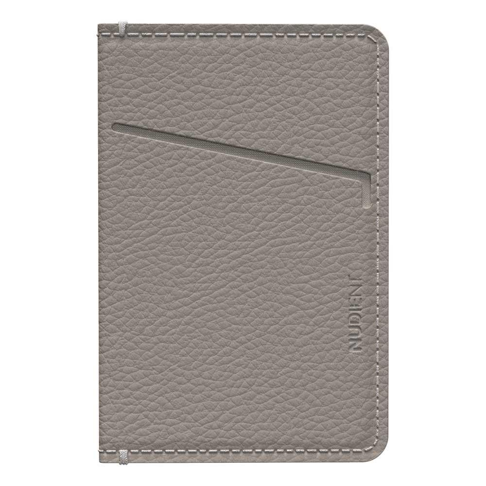 Thin Card Holder Clay Beige Leather