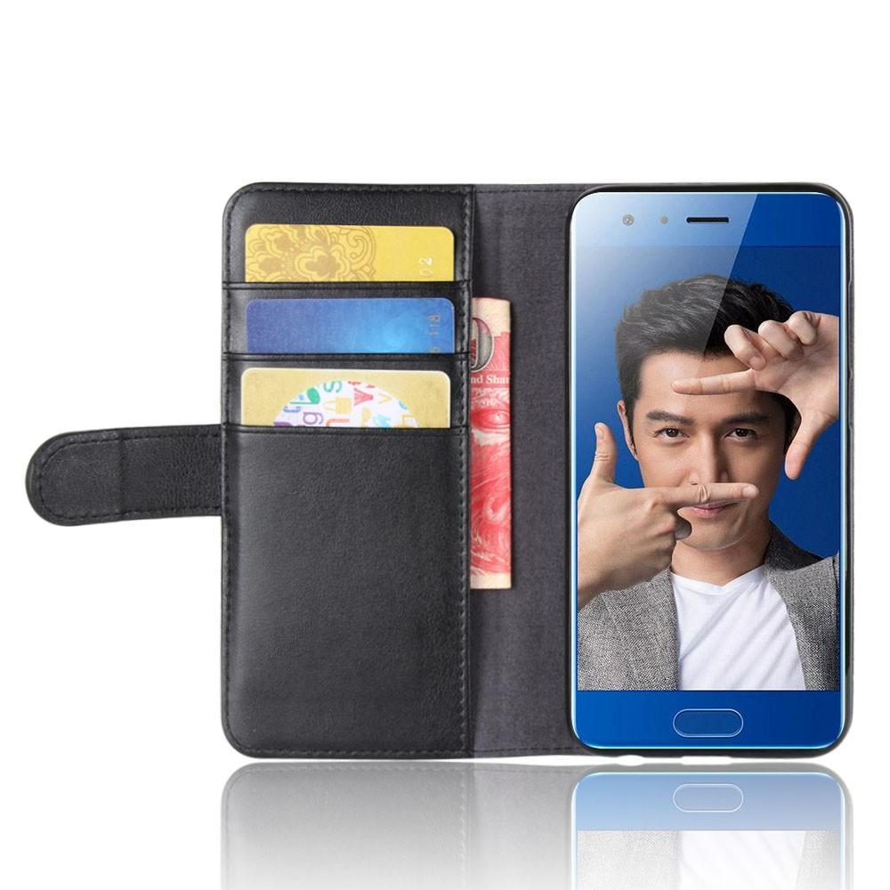 Ekte Lærveske Huawei Honor 9 svart