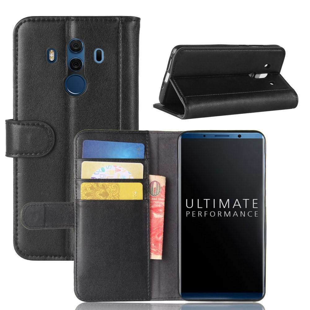 Ekte Lærveske Huawei Mate 10 Pro svart