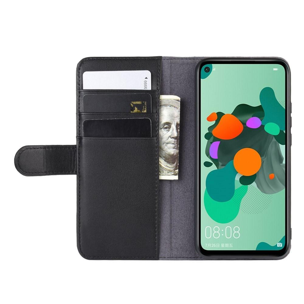 Ekte Lærveske Huawei Mate 30 Lite svart