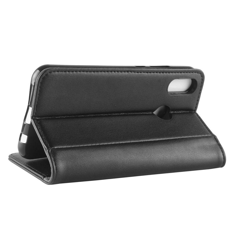 Ekte Lærveske Huawei P20 Lite svart