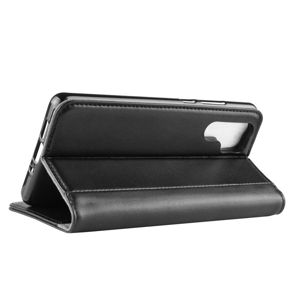 Ekte Lærveske Huawei P30 Pro svart