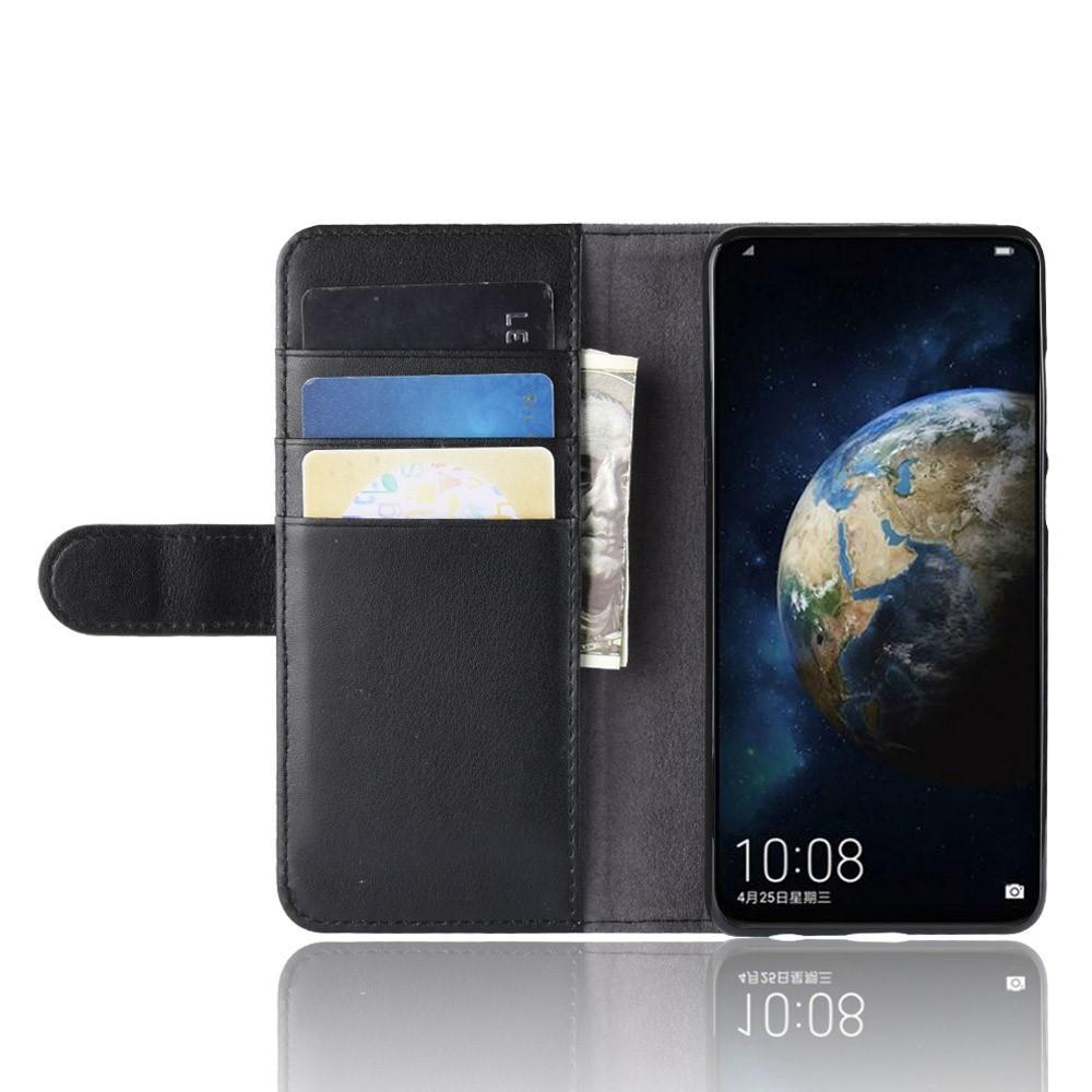 Ekte Lærveske Huawei P30 svart