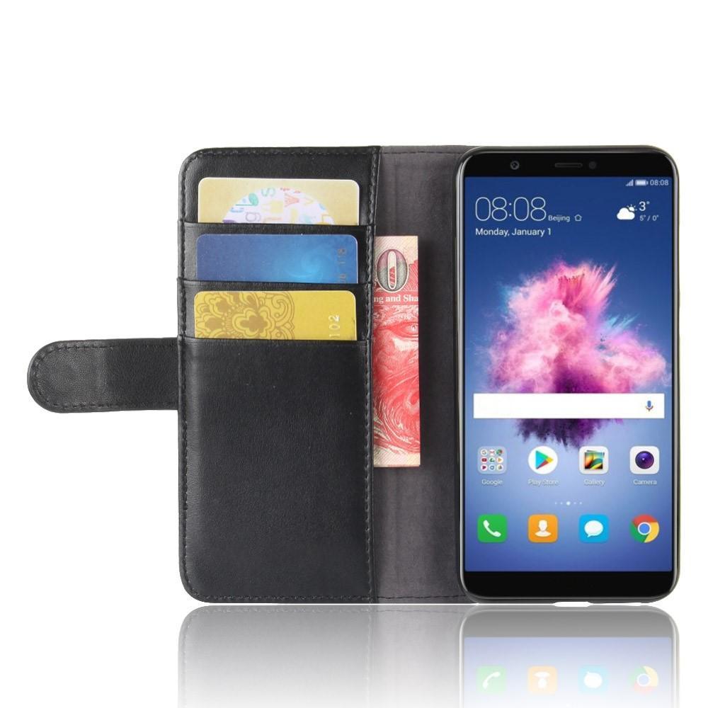 Ekte Lærveske Huawei P Smart svart