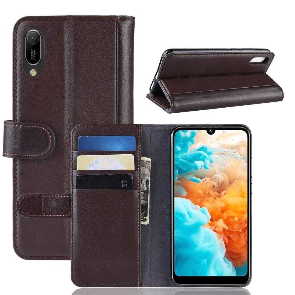 Ekte Lærveske Huawei Y6 2019 brun